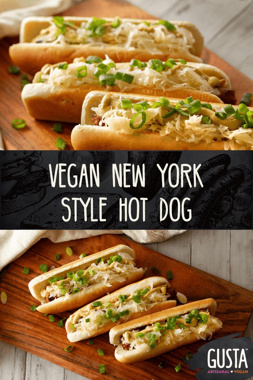vegan New York style hot dog