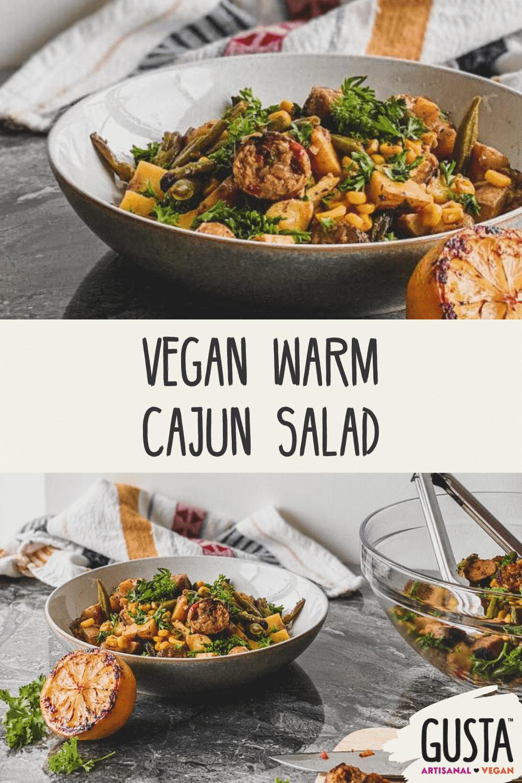 vegan warn cajun salad