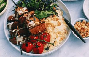 kebab riz safrané
