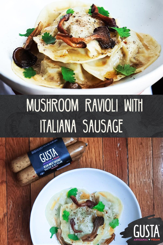mushroom ravioli sausage