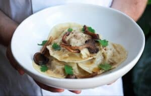 mushroom ravioli with italian sausage